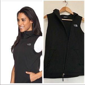 North Face soft shell hooded vest